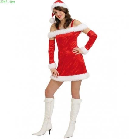 Weihnachtsfrau Nicola Nikolaus / Weihnachtsmannkostüm