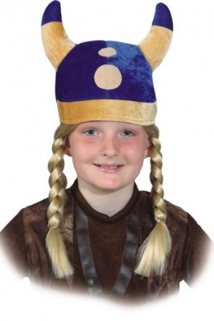 Wikingermütze Zubehör Wikinger Kinderhut Kopfbedeckung Kinderfasching