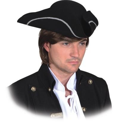 Dreispitz Piratenhut Kopfbedeckung Pirat Faschingszubehör
