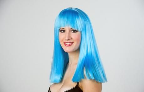 Pony Mädchen Langhaarperücke Damenperücke Karneval