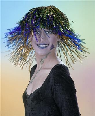 Disco Party Perücke blau Karneval Fasching Kostüm Party