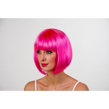 70er 80er Jahre Perücke pink Party Karneval Fasching