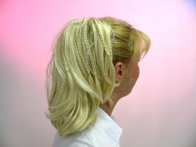Haarteil Farbe braun Pferdeschwanz Zöpfe