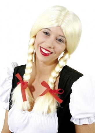 Heidi Zopfperücke Karneval Fasching Kostüm Party