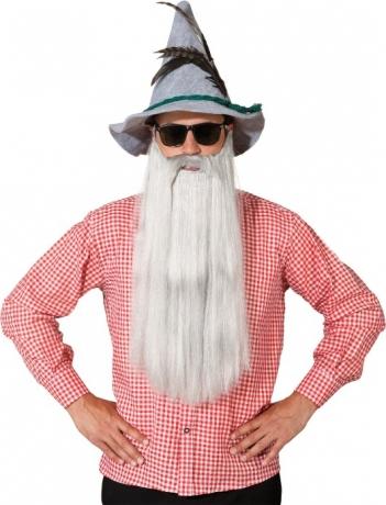 Bayer Seppel Hut mit Bart u. Brille Oktoberfest watzihut