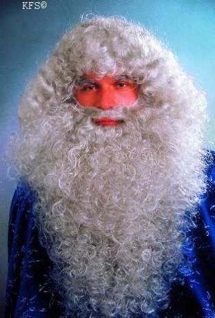 Bart grau grauer Bart Prophet Zauberer Merlin Nikolaus Weihnachtsmann