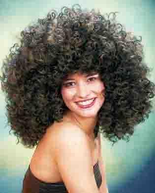 70er 80er Jahre Afro Perücke Karneval Fasching Party