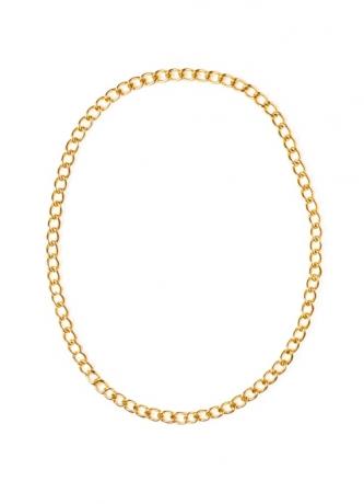 Kette Zuhälter XXL Gliederkette gold Zubehör Accessoires Fasching Part