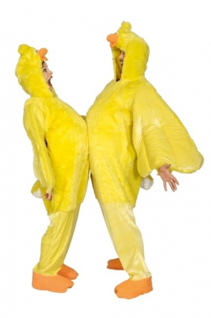 Overall Huhn Kostüm Erwachsene Tierverkleidung Faschingskostüm Party