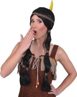 Indianerin Damenperücke Squaw Faschingsperücke Karnevalsperücke