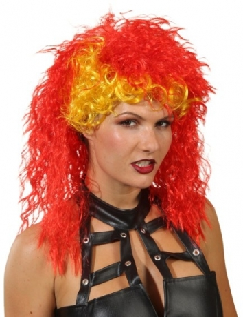 Rocker Braut Damenperücke Lockenperücke Fasching Accessoires Mottopart