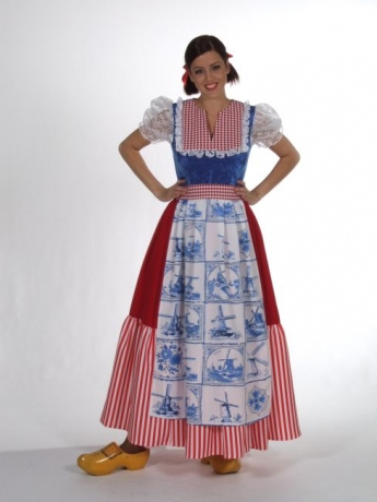 Holländerin Delfs blau Kleid lang Frau Antje Fasching