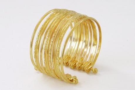 Armband goldene Ringe Fasching Karneval Modeschmuck