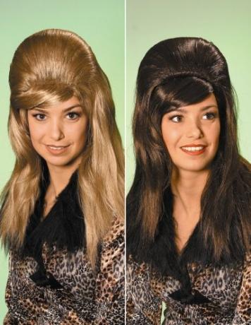 60er 70er Jahre Perücke hochtoupiert Karneval Fasching
