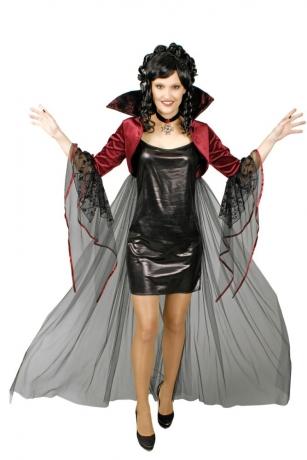 Hexe Vampirin Gothic Bolero Umhang mit Medaillon Ornamente Verzierung