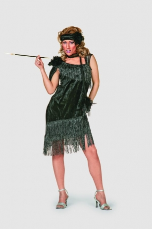 Charleston schwarz de luxe 20s Fasching Karneval Motto