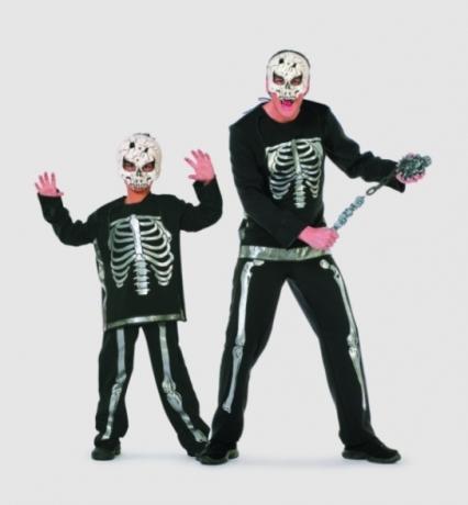 skelett halloween kinderkost m kinderfasching kinderparty. Black Bedroom Furniture Sets. Home Design Ideas