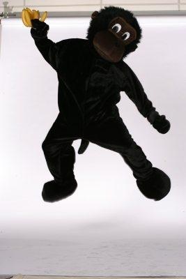 Maskottchen Affe Herrenkostüm Fasching Karneval