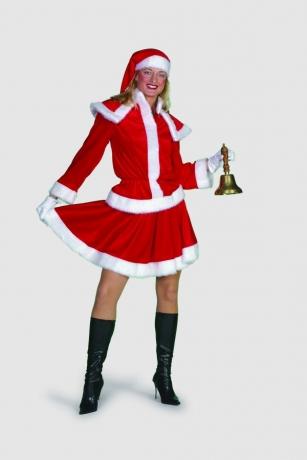 Weihnachtsfrau Velours Nikolaus Frau Weihnachten