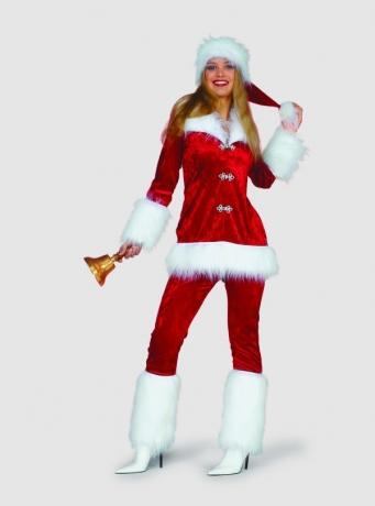 Mütze Weihnachtsfrau de luxe Weihnachtsmütze