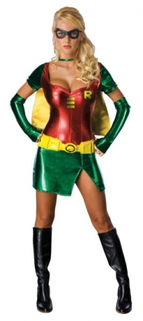Sexy Robin Damenkostüm Superheldin Faschingsverkleidung Mottoparty