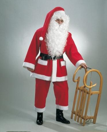 Nikolaus Weihnachtsmann Kostüm Handschuhe Hochwertig