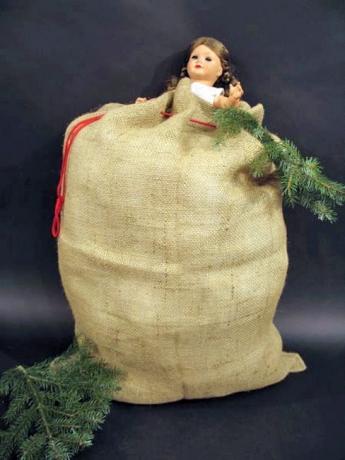 Jutesack natur Nikolaus Weihnachtsmann 60 x 90 cm