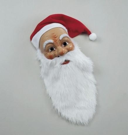 Nikolaus Weihnachtsmann Santa Claus Maske mit Mütze u. Bart