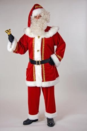Edler Samtanzug für den Nikolaus und Weihnachtsmann Kostüm Weihnachtsf