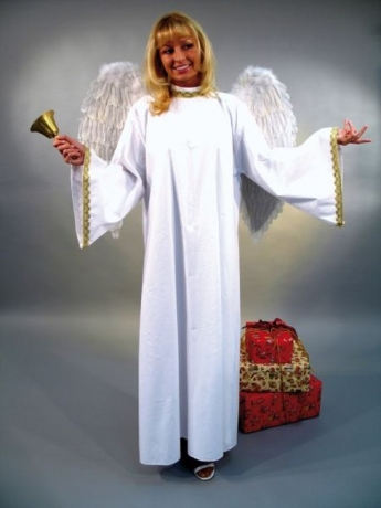 Engel Kostüm Weihnachten Christkind Karneval Frau/Mann