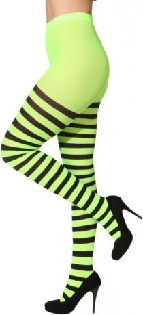 Ringelstrumpfhose Neonfarben Damenstrumpfhose Accessoires Fasching