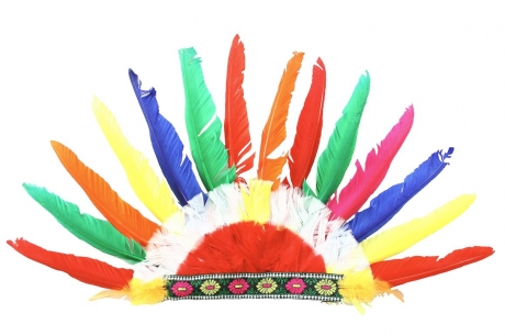 Indianer Kopfschmuck klein Federschmuck Fasching