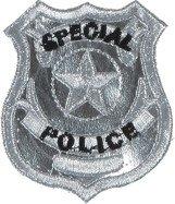 Emblem Police Abzeichen Aufnäher Faschingszubehör Abzeichen
