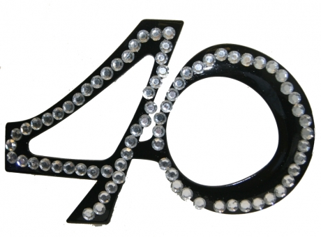 Brille Partybrille 40 Jahre Geburtstag Party Zubehör