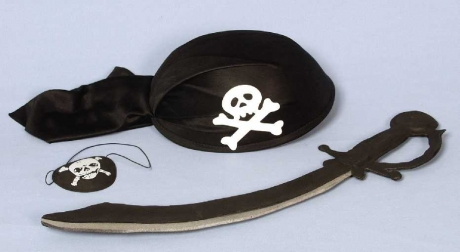 Pirat Piratenset 3 teilig Karneval Fasching Kostüm