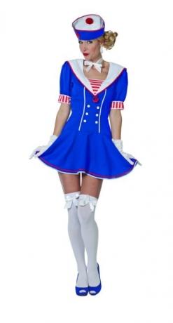 Matrosin Damenkostüm Verkleidung Uniform Faschingskostüm Partykostüm
