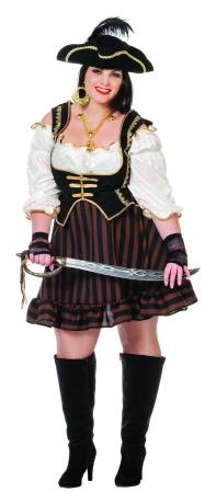 Piratin Kleid große Größen Seeräuberin XXL Damenkostüm Big Piratenbrau