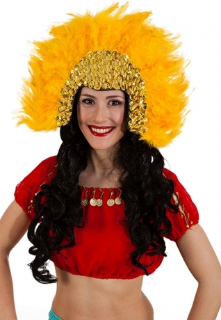 Brasil Feder Kopfschmuck Rio Karneval Fasching Party
