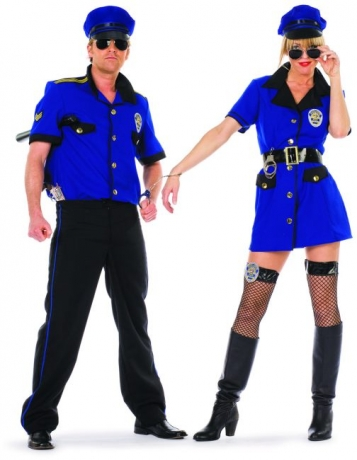 Police Lady Damenkostüm Polizistin Politesse Damenkostüm Fasching Mott