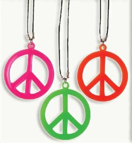 Peace Zeichen 60er 70er Karneval Fasching Kostüm Party