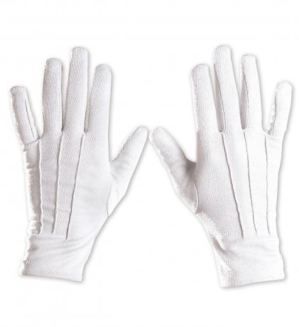Nikolaus Weihnachtsmann weiße Handschuhe mit Naht