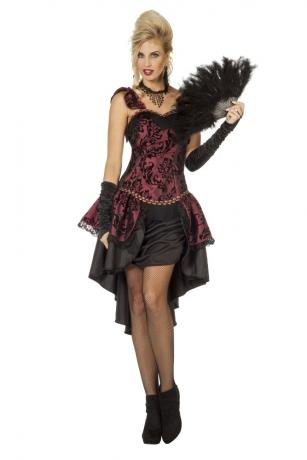 CanCan Saloongirl Western Burleske Kleid Größe 34-48