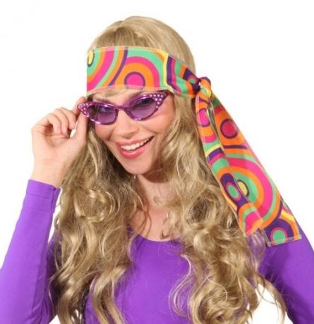 Brille Diva Hippie 60er 70er Jahre Fasching Mottoparty Accessoires