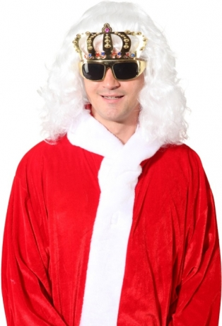 Goldene Brille Königskrone Mottoparty Accessoires Zubehör Fasching