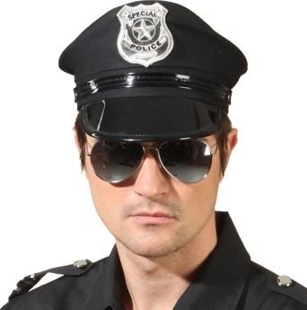 Polizei Brille verspiegelt Accessoires Fasching Kostümfest Zubehör