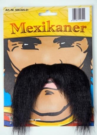 Mexikaner Bart Karneval Fasching Zubehör Accessoires