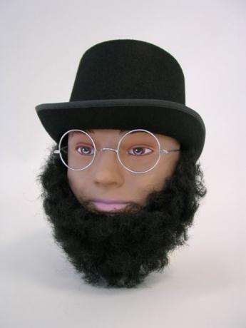 Bart Vollbart Lincoln-Bart Karneval Fasching Kostüm