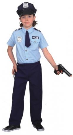 Polizist Faschingskostüm Junge Kinderverkleidung Kinderfest Faschingsp