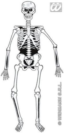 Skelett Geist Halloween Grusel Party Deko Karneval