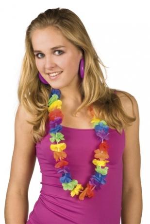 Hawaii Blütenkette Südsee Party Kaibik Karneval